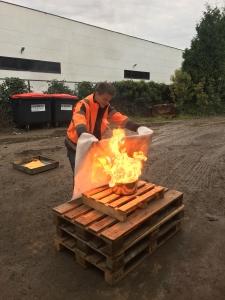 Opleiding brand blussen met kleine blusmiddelen